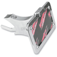 Swingarm Horizontal Side-Mount Chrome License Plate - LPF121-HC