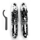 11 in. Chrome 812 Series Flame Cut Shocks - 812-4062CF