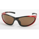 Red Safety C-116 Sunglasses w/Brown Lens - C-116RED/BR