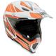 White/Orange Flagstars AX8 EVO Helmet