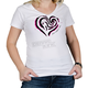 Womens White Heart T-Shirt