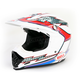 White/Red/Blue Moto-9 Hurricane Helmet