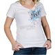 Womens White/Blue Scroll T-Shirt