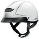 Vagrant Pinstripe White Half Helmet
