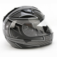 Black/White/Silver Ramper IS-16 Helmet