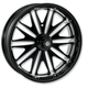 18 in. x 5.5 in. Boss One-Piece Black Ops Aluminum Wheel - 12697814RMSSSMB