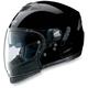 Metallic Black Graphite N43ET Trilogy N-Com Helmet