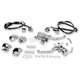 Handlebar Control Kit w/9/16 in. Bore Low Profile Master Cylinder for Single Disc - Chrome Switches - 49999