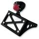 Black Taillight License Plate Horizontal Bracket - 0215-2005-BP