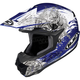 Blue/White CL-X6 Kosmos Helmet
