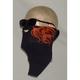 Neoprene Orange Flames Cool Weather Half Face Mask