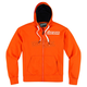 Orange Upper Slant Zip-Up Hoody
