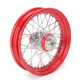 16 in. x 3 in. Rear Lace Red Powder-Coated 40-Spoke Wheel Assembly - 225-S40RR