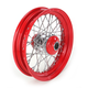 16 in. x 3 in. Front Lace Red Powder-Coated 40-Spoke Wheel Assembly - 225-S40FR