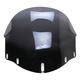 Adjustable Dark Smoke 14-18 in. Flare Windshield - 2312-0241
