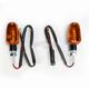 Oblong Dual Filament Marker Lights w/Amber Lens - 25-8301BK