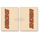 Orange/Black Showa Upper Fork Decals - 01010