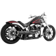 Black American Outlaw High 2 into 1 Exhaust System - HD00297