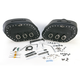Desperado S4 Rigid-Mount Quick-Disconnect Saddlebags w/Integrated LED Marker Lights - 3501-0233-LES