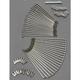 Front Stainless Steel Spoke Set for Custom Rim w/Aluminum Hub Disc Brake - Inside Lace - DS-380231