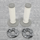 White/Gray SXII Grips with Donuts - 219624-1039