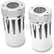 Chrome Diamond Cut-Out Retro Fork Boot Covers - 20-023