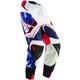 White/Blue Flux Smoke Pants