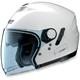 Metal White N43E N-Com Helmet