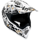 White/Black AX-8 Helmet