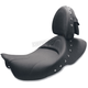 SaddleHyde 14 in. Wide Renegade Deluxe Solo Seat w/Studs and Driver Backrest - D882J