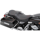 Low-Profile Touring Seat w/EZ Glide Backrest & Red Pinstripe - 0801-0525