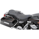 Low-Profile Touring Seat w/EZ Glide Backrest & Blue Pinstripe - 08010524