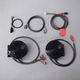 Black 4 in. Performance Self Amplified Handlebar Mounted Speaker Kit - MHAS-2008BLK