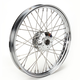 Chrome 21 x 2.15 40-Spoke Laced Wheel Assembly for Single or Dual Disc - 0203-0089