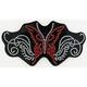 Rhinestone Butterfly Helmet Patch - 61482