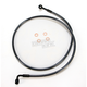 Black Pearl Designer Series 90 Degree Top Angle Custom Single-Disc Front Brake Line - 46548SW