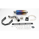Oval Slip-On Muffler with Flame Titanium Muffler Sleeve - KA72ATO