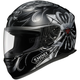 RF-1100 Pious Black/Silver/Red Helmet