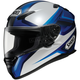 RF-1100 Chroma Black/Silver/Blue Helmet