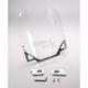Clear Windshield for Custom Application w/1 1/4 in. Bars w/o Risers - 10-1290C