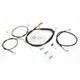 Black Vinyl Cafe Handlebar Cable and Brake Line Kit - LA-8300KT-0CB