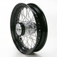 16 in. x 3 in. Rear Lace Black Powder-Coated 40-Spoke Wheel Assembly - 225-S40RB