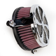 Chrome Swept Air Cleaner - 06-0137-01