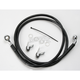 Front Standard Length Black Vinyl Braided Stainless Steel Brake Line Kit - 1741-2532
