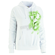 Womens White Blurr Pullover Hoody