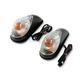 Dual Filament Mini Wing Marker Lights w/Clear Lens - 25-8100
