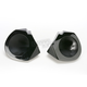 Black Leather Look Speaker Pods - HFASSCP65B