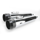 4 in. True Power High-Performance Chrome Mufflers W/Black Tips - LA-1594-02B