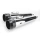 4 in. True Power High-Performance Chrome Mufflers W/Black Tips - LA-1594-02B