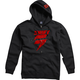 Black/Red Corp Fleece Zip Hoody